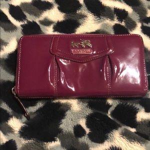 Violet coach wallet